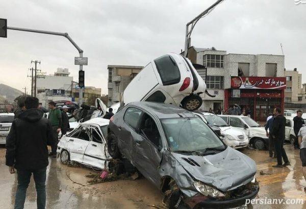 تصاویری جدید از خسارات سیل امروز شیراز!   ایران غرق در ماتم!