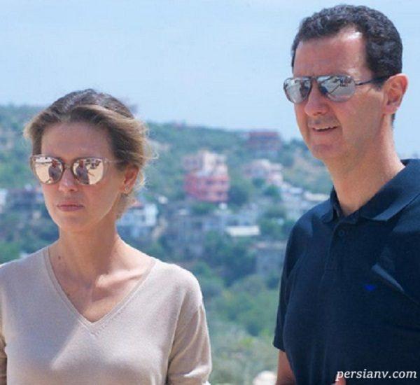 عکس های اسما اسد با ظاهری جدید در استقبال از خانوادههای شهدای سوری!