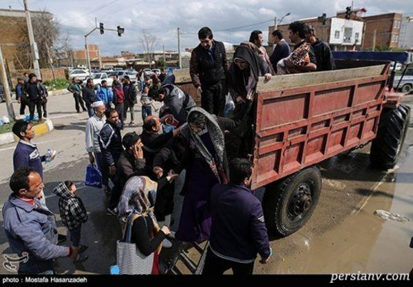 تصاویری جدید از وضعیت امداد رسانی به مناطق سیل زده گلستان!