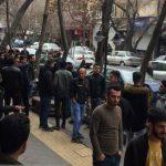 تجمع اعتراضی موبایل فروشان تبریز و تعطیلی مغازه هایشان!