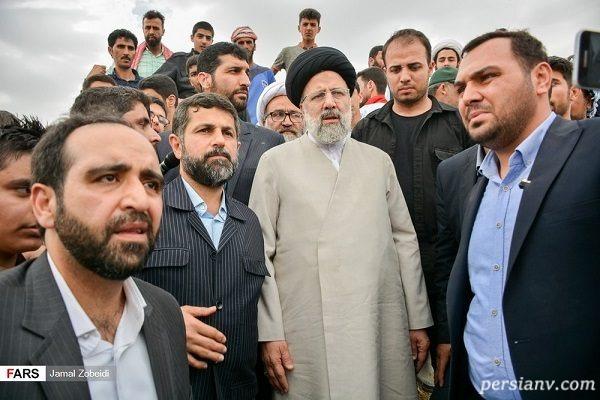 دیدار سیدابراهیم رئیسی با سیل زدگان خوزستان
