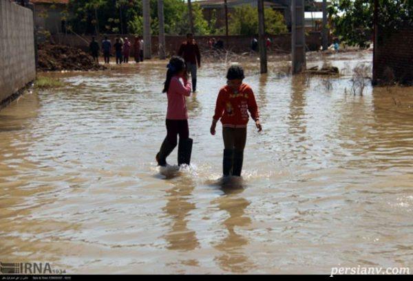 روستاهای سیل زده آق قلا