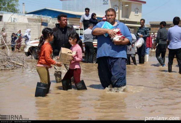 تصاویری از آخرین وضعیت روستاهای سیل زده آققلا