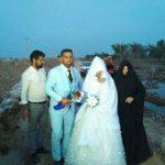برگزاری عروسی زوج خوزستانی روی سیل!! + تصاویر