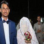تصاویری دیدنی از جشن ازدواج دو زوج سیل زده در خوزستان!