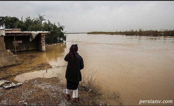 تصاویری جدید از آخرین وضعیت سیل در خوزستان!!