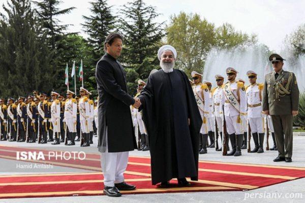 تصاویری از استقبال حسن روحانی از نخست وزیر پاکستان در سعد آباد