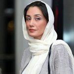 چهره خسته هدیه تهرانی در مناطق سیل زده