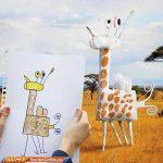 ایده جالب یک پدر برای نقاشی های فرزندانش!