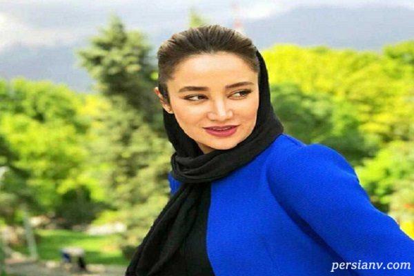 بهاره افشاری بازیگر سینما در بازی سردار آزمون در ورزشگاه روسیه!