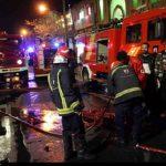تصاویری از آتش سوزی بازار سرپوشیده تبریز