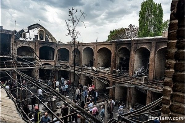 علت حادثه آتش سوزی بازار تبریز اعلام شد
