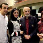 عکسی از خانواده امیر سلیمانی در کنار استاد جمشید مشایخی!