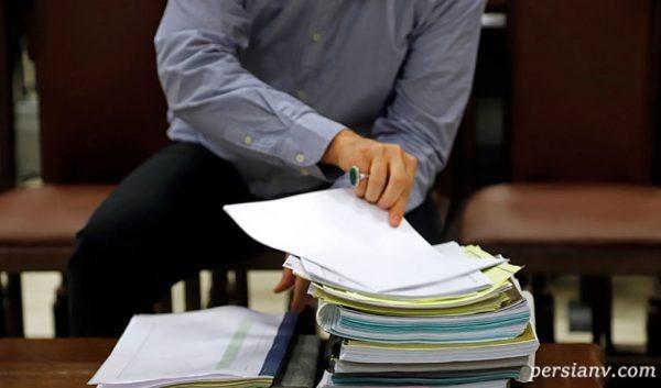 هادی رضوی داماد وزیر در دادگاه بانک سرمایه!! + تصاویر