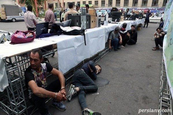 بازداشت گسترده سارقان حرفهای تهران + تصاویر