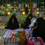 حال و هوای سفره های افطاری در جوار شهدا + تصاویر