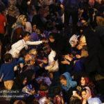 سفره افطاری ساده در میدان امام حسین تهران + تصاویر