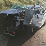 تصاویری از واژگونی خودروی پژو ۲۰۷ در بزرگراه خرازی تهران!