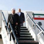 لحظه ورود حسن روحانی به کرمانشاه + تصاویر