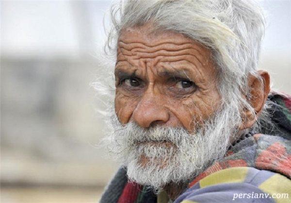 تصویری از پیرترین مرد زنده جهان در همدان