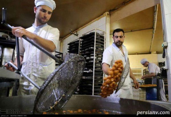کارگاه پخت زولبیا و بامیه