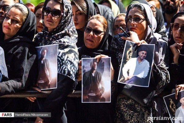 حاشیه های مراسم تشییع بهنام صفوی خواننده معروف + تصاویر