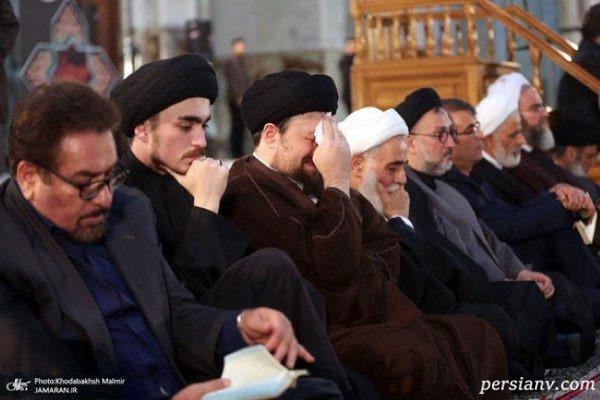 چهرههای سیاسی در مراسم احیای شب بیست و یکم رمضان + تصاویر