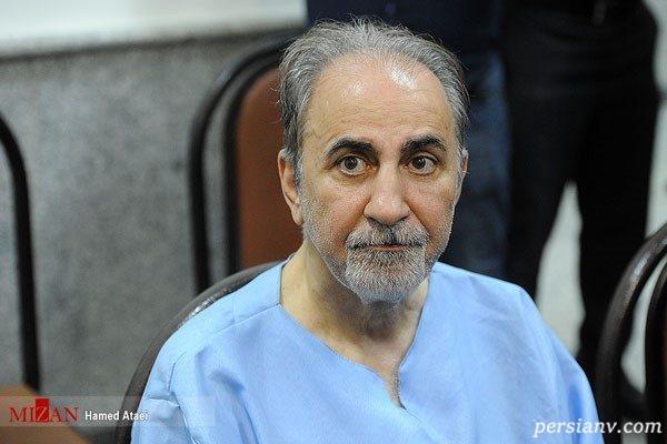 محمد علی نجفی شهردار سابق تهران با دستبند در دادسرا !+ تصاویر