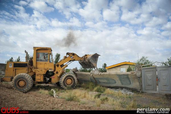 تخریب ویلاهای غیر مجاز