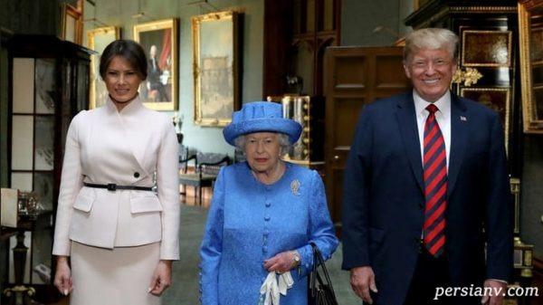 ترامپ و ملکه الیزابت