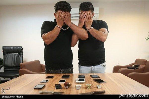 دستگیری سارقان موبایل قاپ در تهران! + تصاویر
