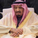 تصویری عجیب و خبرساز از دیدار پمپئو و ملک سلمان پادشاه عربستان!!