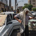 تصاویری از گرمای شدید اهواز که نفس مردم را گرفت!!