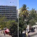 خونسردی مجریان حین زلزله یونان در آنتن زنده !!!