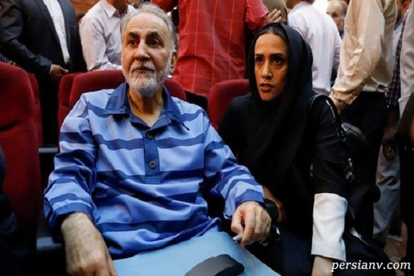 عکس های دختر محمدعلی نجفی و همسرش در دادگاه محاکمه پدر!