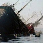 غرق شدن کشتی باری ایران در دریای خزر و انتقال کارکنانش به باکو!