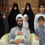 محمد مسلم وافی یزدی طلبه ۳۷ ساله با ۱۲ فرزند و ۲ نوه!!