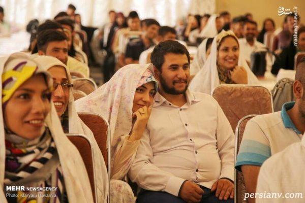 جشن ازدواج آسان نوعروسان در بجنورد