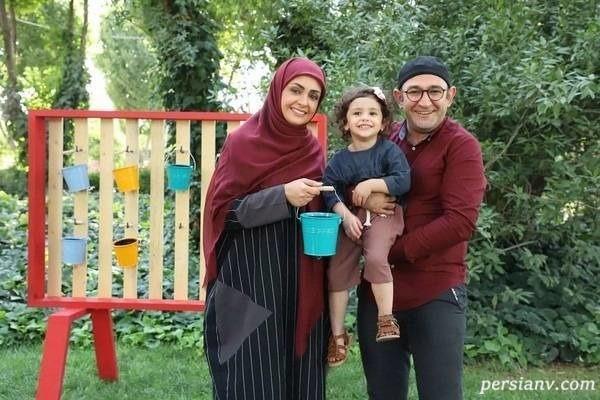 هدایت هاشمی و همسر و دخترش جانا در کودک شو