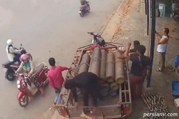 انفجار پمپ بنزین