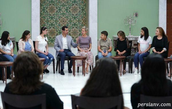 بشار اسد با همسرش