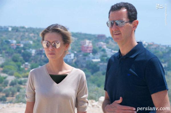 بشار اسد با همسرش در اولین حضور مشترکشان پس از رهایی از سرطان!