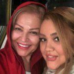 جشن تولد اکرم محمدی در ۶۱ سالگی در کنار دخترش!