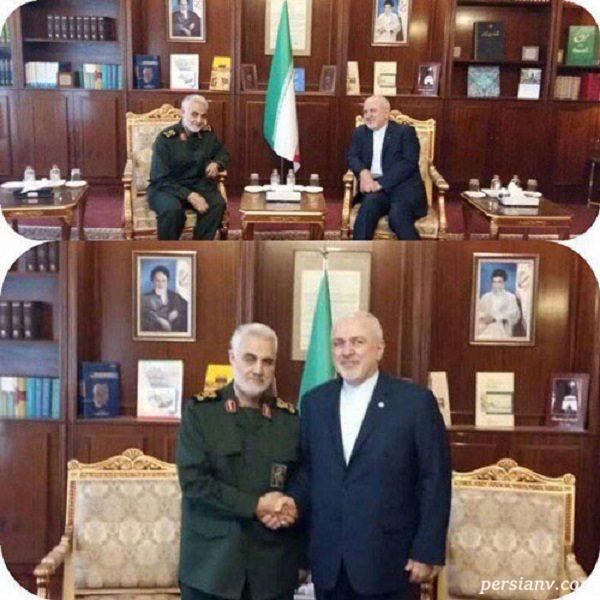 سردار سلیمانی و محمد جواد ظریف