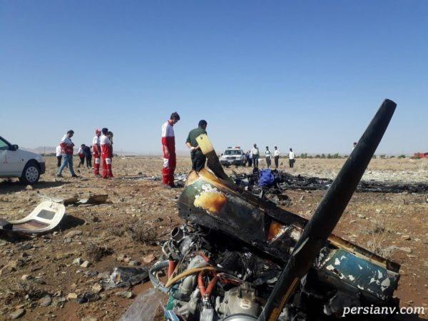سقوط هواپیمای تفریحی در سمنان با دو کشته!!