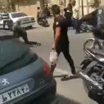 ضارب مامور نیروی انتظامی در چهارراه ولیعصر پس از دستگیری!!
