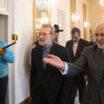 علی لاریجانی و ظریف دیدار و گفتگو کردند!