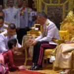 مراسم ازدواج پادشاه تایلند با پرستارش در حضور همسر اولش!!