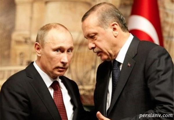 اردوغان و پوتین در حال خوردن بستنی قیفی در حاشیه یک نمایشگاه!!