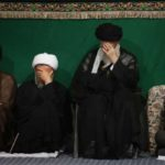 احمدی نژاد در شام غریبان با حضور رهبر انقلاب